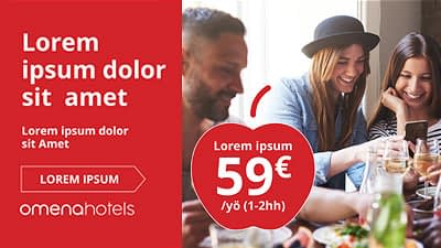 Omena Hotels banneri- ja sometemplatet referenssit